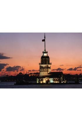 Rengo - İstanbul - Kız Kulesi Kanvas Tablo (0086)