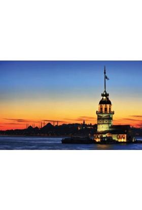 Rengo - İstanbul - Kız Kulesi Kanvas Tablo (0087)