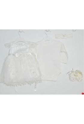 Pugi Baby 1053 Fransız Gübürlü Kız Bebek Mevlüt Takımı