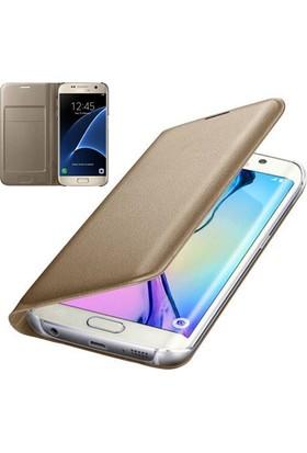 Teknoarea Samsung Galaxy A7 2017 Suni Deri Cüzdan Kılıf Flip Wallet