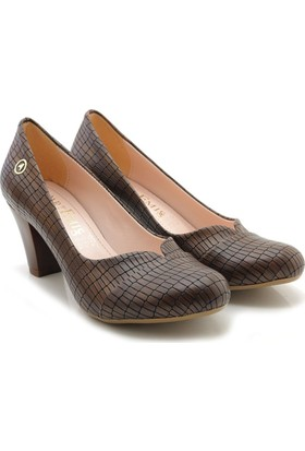 Artemis W-150-013 Kahverengi Alçak Kadın Ayakkabı