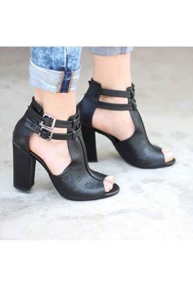 Artemis W-2050 Delikli Topuklu Kadın Ayakkabı