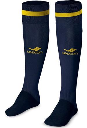 Lescon La-2172 Lacivert Sarı Erkek Futbol Çorabı 36-39