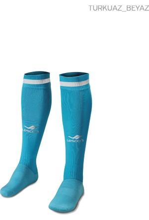 Lescon La-2172 Turkuaz Beyaz Erkek Futbol Çorabı 36-39