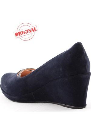 Alens 3200 Büyük Numara Bayan Ayakkabı Dolgu Topuk 7 cm Günlük Abiye