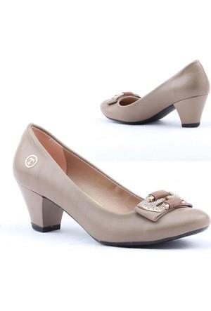 Myzenn 614 Bayan Fındık Topuklu 5cm Günlük Klasik Ayakkabı