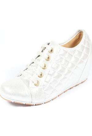 Capriss 700 Gümüş Bayan Ayakkabı