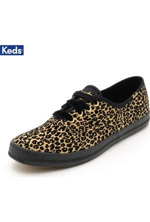 Keds Wf52055 Ch Flock Leopard Tan