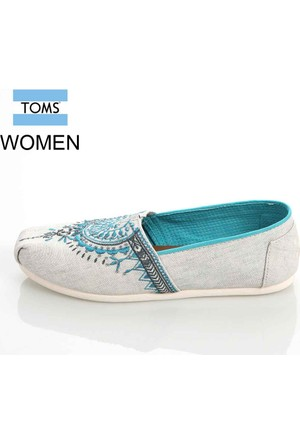 Toms 10008010 Lt Grey Beaded Embroidery Wm Alpr Esp Ayakkabı