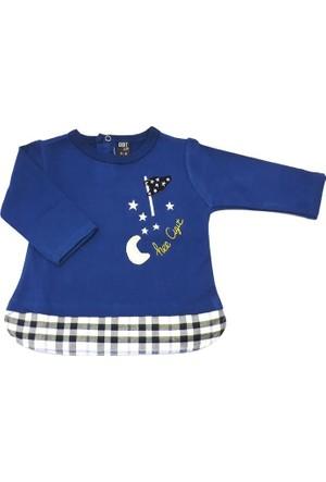 Cigit Kids Ay Yıldız Nakışlı Bebek Tişörtü