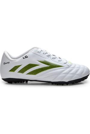 Lig Banaz Halı Saha Ayakkabısı Beyaz-Sarı