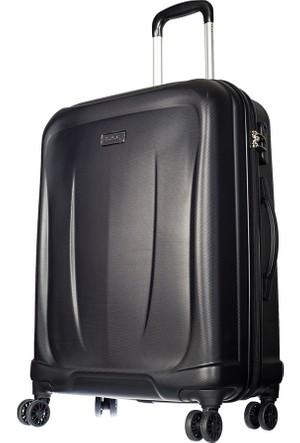 Pierre Cardin Polycarbonate Pc3500 Orta Boy Valiz Siyah