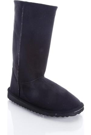 Shoes&Moda 509-5917-1300 Siyah Kadın İçi Yünlü Bot
