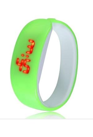 Pratik New Fashion Led Bileklik Kol Saati (Yeşil)