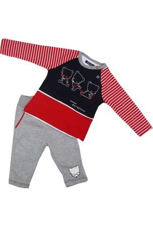 Premom PRE1395Y Çizgili 2'li Bebek Takımı