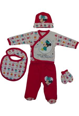 Disneybaby Mini Mouse 5'li Set Kırmızı