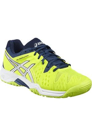 Asics Gel Resolution 6 GS Safety Yellow çocuk ayakkabısı