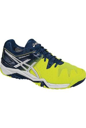 Asics Gel-Resolution 6 Safety Yellow/Poseidon erkek tenis ayakkabısı