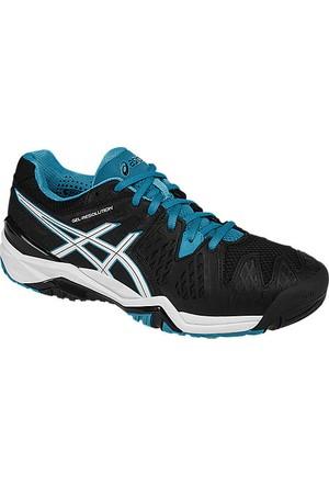 Asics Gel Resolution 6 Black blue jewell erkek tenis ayakkabısı