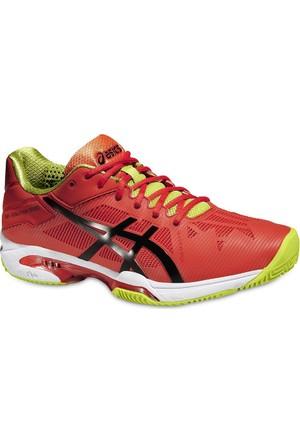 Asics Gel Solution Speed 3 Clay orange black erkek tenis ayakkabısı