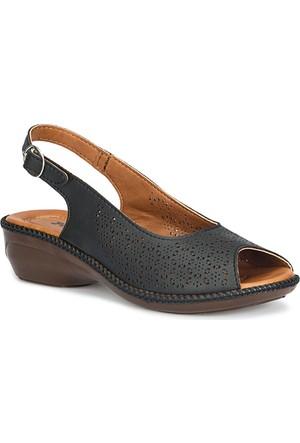 Polaris 71.157333.Z Siyah Kadın Sandalet