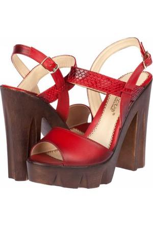 Sms Kadın Platform Topuklu Sandalet