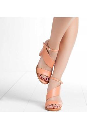 Mode Dame Kadın Topuklu Sandalet