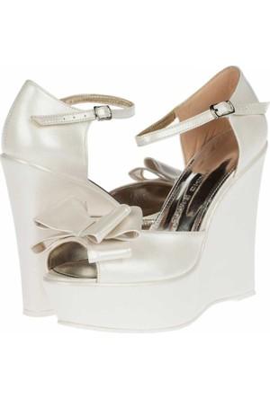 Prımo Passo Gelin Dolgu Topuklu Ayakkabı