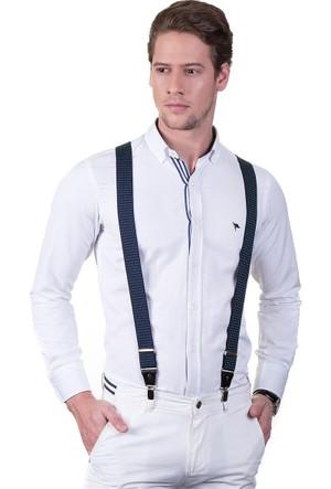 Tudors Lacivert Düz Erkek Pantolon Askısı