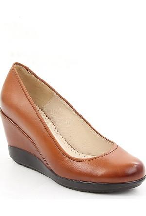 Gön Taba Antik Deri Kadın Ayakkabı 22373