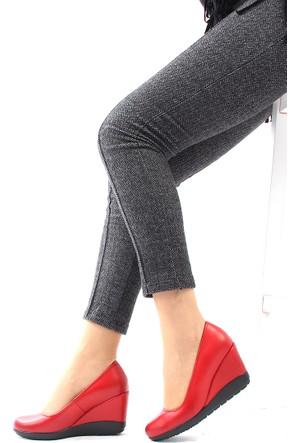 Gön Kırmızı Antik Deri Kadın Ayakkabı 22373