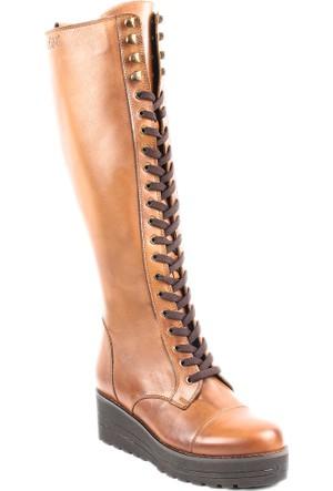 Gön Deri Kadın Çizme 43508 Taba Antik