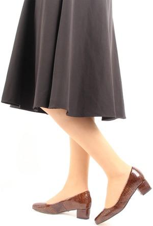 Gön 22336 Taba Krako Deri Kadın Ayakkabı