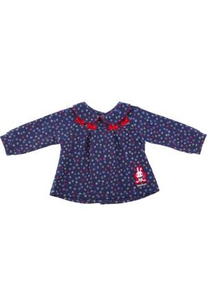 Tuc Tuc Bebek Baskılı Sweatshirt, Nordic Lacivert Çiçekli