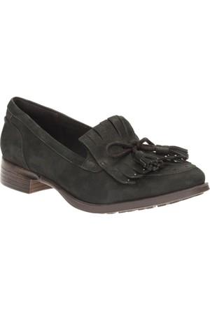 Clarks Busby Lola Kadın Loafer Ayakkabı Siyah