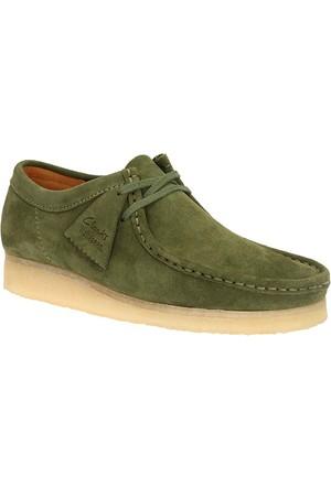 Clarks Wallabee Erkek Ayakkabı Yeşil