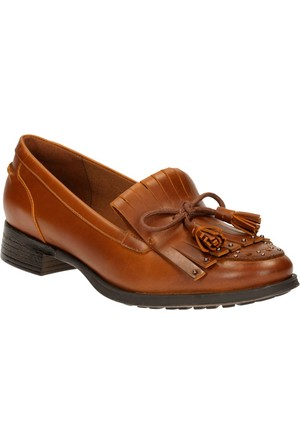 Clarks Busby Lola Kadın Loafer Ayakkabı Taba