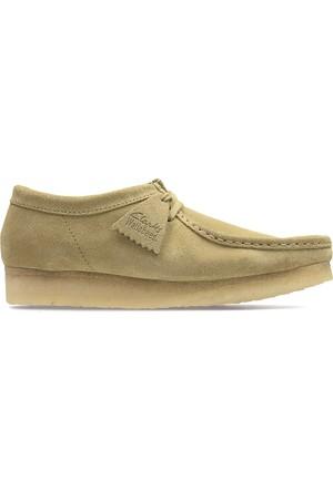 Clarks Wallabee Erkek Ayakkabı Krem Rengi