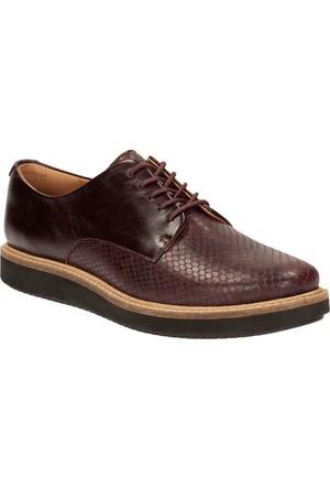 Clarks Glick Darby Kadın Ayakkabı Bordo