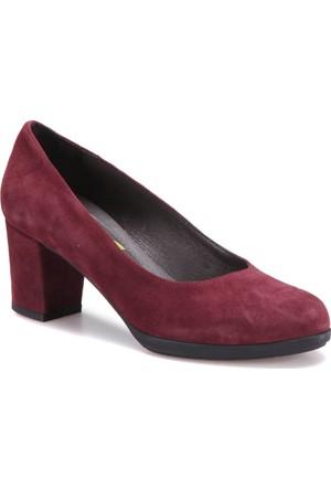 Miss Roberta A7000024 Bordo Kadın Deri Ayakkabı