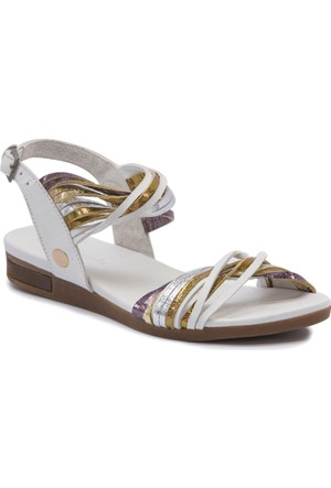 Mammamia D17Ys1690 Beyaz Terlik - Sandalet