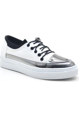 Dizzy Beyaz Yüksek Taban Spor Günlük Kadın Ayakkabı