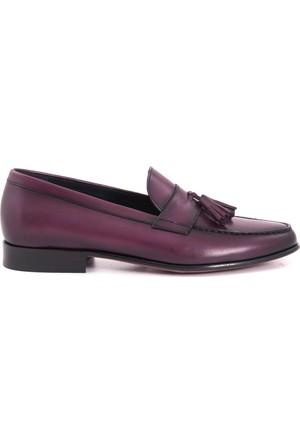 Mocassini Erkek Ayakkabı Bordo