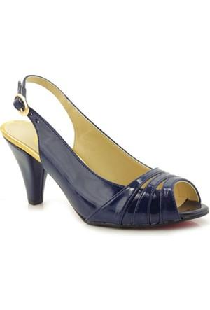 Fantasy Lacivert Rugan Topuklu Kadın Ayakkabı