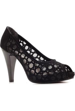 Fantasy Siyah Nubuk Fileli Platform Kadın Ayakkabı