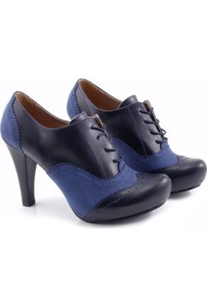 Fantasy Tanin Lacivert Platform Kadın Ayakkabı