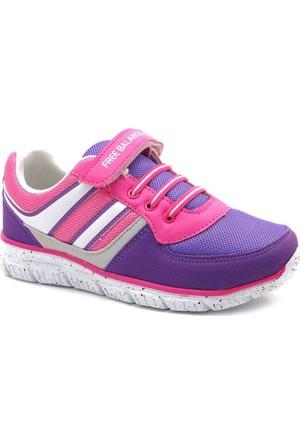 Free Balance Mor Fuşya Kız Çocuk Spor Ayakkabı