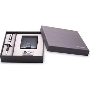 scrikss dr 225 38 rb siyah krom hakiki deri çoklu yapraklı kredi kartlık siyah kd265-1 kol düğmesi set