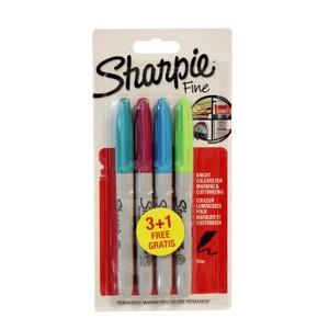 sharpie fine permanent markör kalem canlı renkler 3 1 paket