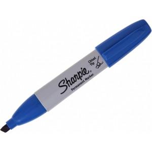 sharpie chisel tip kesik uçlu permanent markör mavi kalem